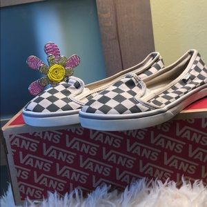 Authentic gray plaid VANS Shoes